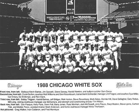 thedeadballera 1988 chicago white sox team photo