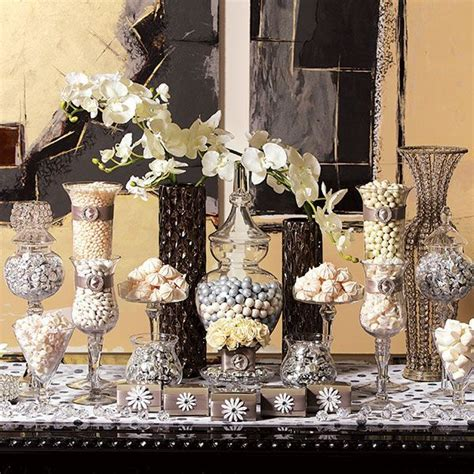 black and gold buffet ls white cream ivory candy dessert tables wedding