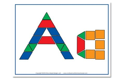 abc pattern using shapes free alphabet pattern block printables confessions of a
