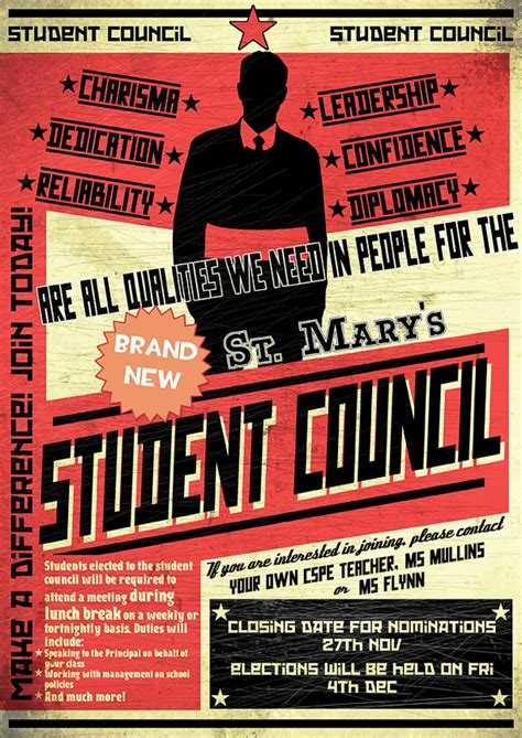 student council poster templates 13 student council poster ideas printaholic