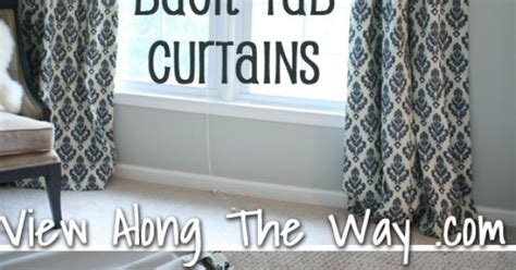 sewing back tab curtains tutorial how to sew lined back tab curtain panels view