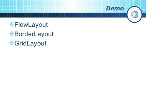 flow layout java program gui programming in java