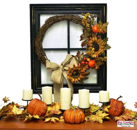 fall window decorations ben franklin crafts and frame shop wa october 2016