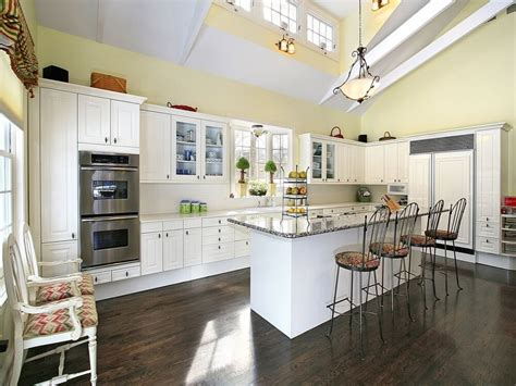 high ceiling kitchen blue kitchen countertops kitchen with high ceilings high