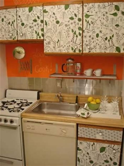Decoupage Kitchen Cabinets -