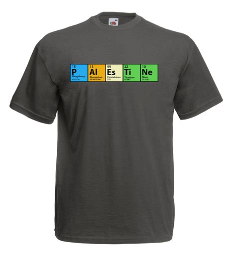 T Shirt Spirit Of Gaza High Quality the big theory inspired periodic table palestine