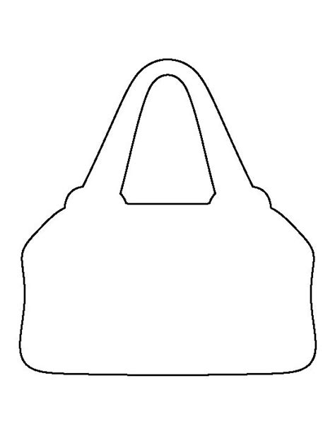 purse shaped card template purse pattern use the printable outline for crafts