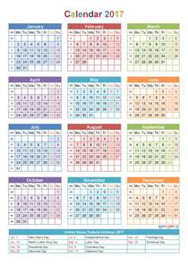 Calendar By Week Number 2017 Weekly Number Calendar 2017 Printable 2017 Calendars