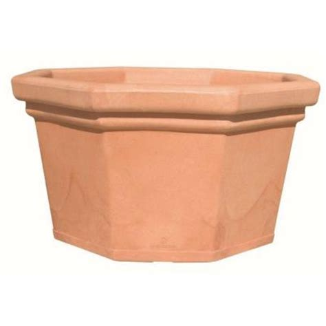 Plastic Planters Home Depot by Marchioro 20 In Octagonal Terra Cotta Plastic
