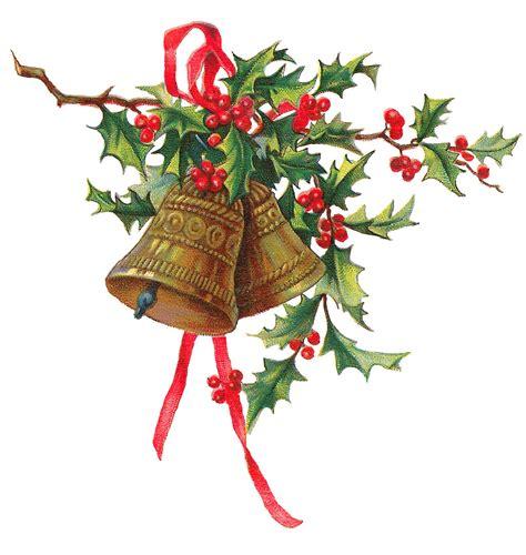 printable christmas clip art antique images christmas holly gold bells printable clip art