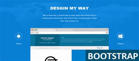 bootstrap themes free blue bootstrap landing page nice html templet
