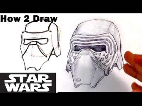how to create a kylo ren wars the how to draw kylo ren helmet from wars the