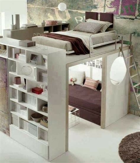 Bed With Walk In Closet Underneath by Great Small For Bedroom Ideas With A Ceiling