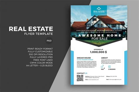 real estate for sale flyer template real estate 20 best real estate flyer templates design shack
