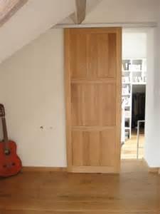 porte coulissante en bois porte coulissante pleine