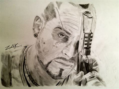 Far Cry 5 Sketches by Far Cry 3 Vaas Montenegro By Zakvalkyrie On Deviantart