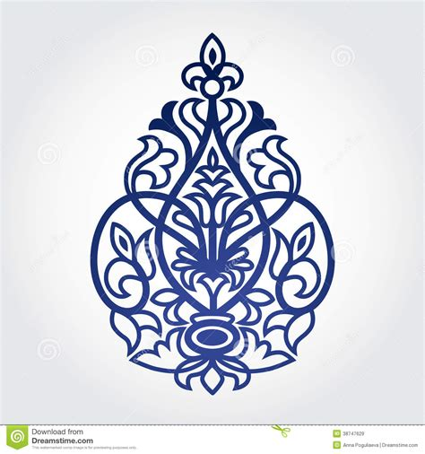 free baroque design elements vector vector baroque ornament in victorian style royalty free