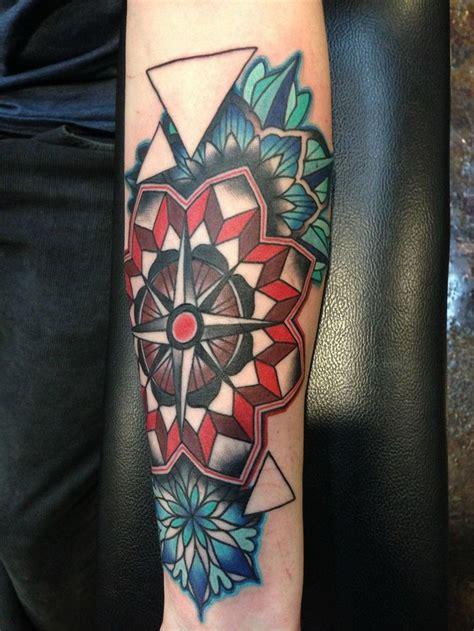 christian tattoo nashville tn geometric compass tattoo by amanda leadman tattoomagz