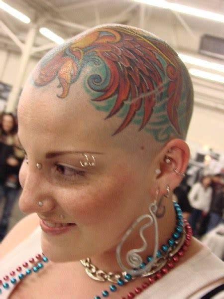 shaved head tattoo tatto photo