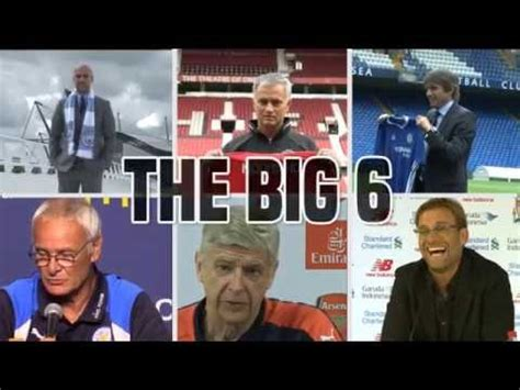 epl big 6 the big 6 managers premier league 2016 17 youtube