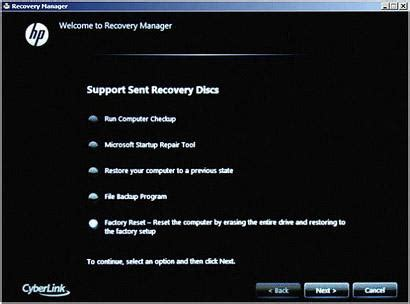 hp pcs performing an hp system recovery (windows 7) | hp