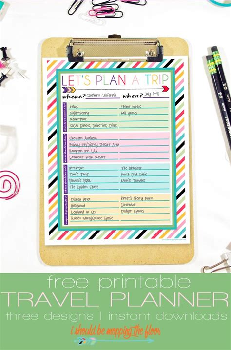 printable route planner free printable travel planner trips free printable and