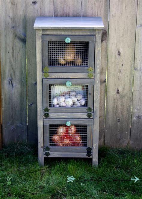 ana white build  vegetable bin cupboard   easy