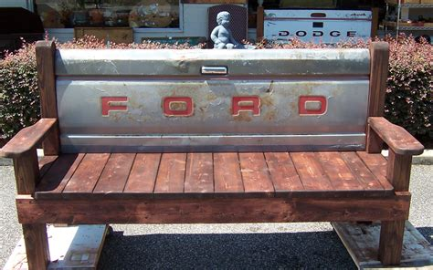 bench made from tailgate hand made wooden bench with ford tailgate triple a resale