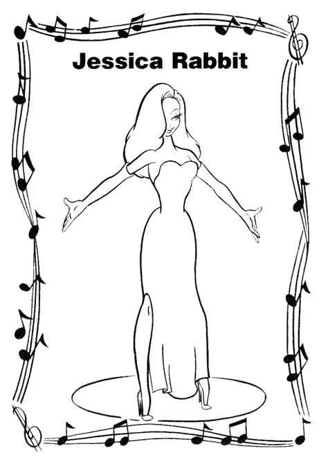 roger rabbit coloring pages