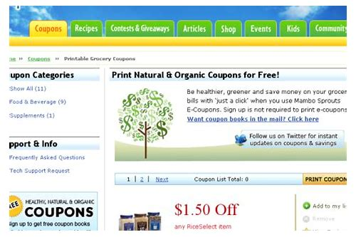 top 10 grocery coupon sites