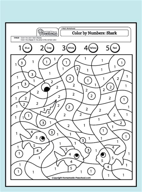 preschool coloring pages pdf free coloring pages of colour by number 1 5