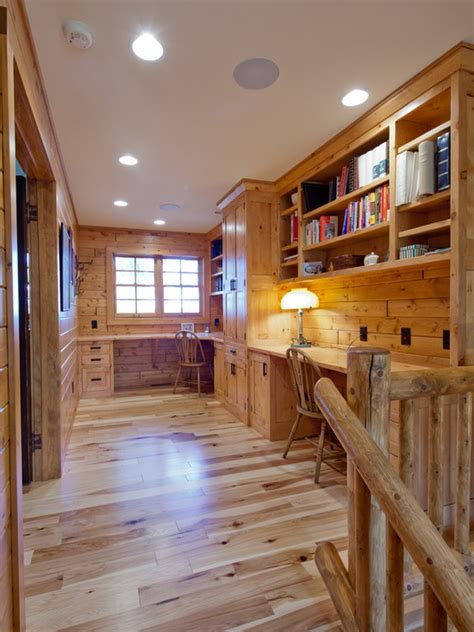great cabin home office design ideas  rustic style