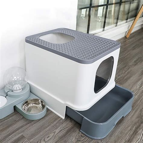 large capacity cat litter box en  cosas  gatos