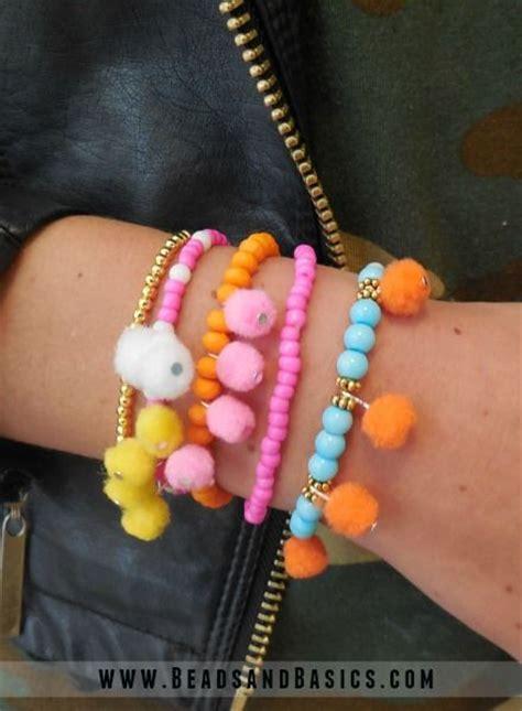 Kalung Pompom Tassel Flower Necklace Pink pompom ibiza bracelets basics