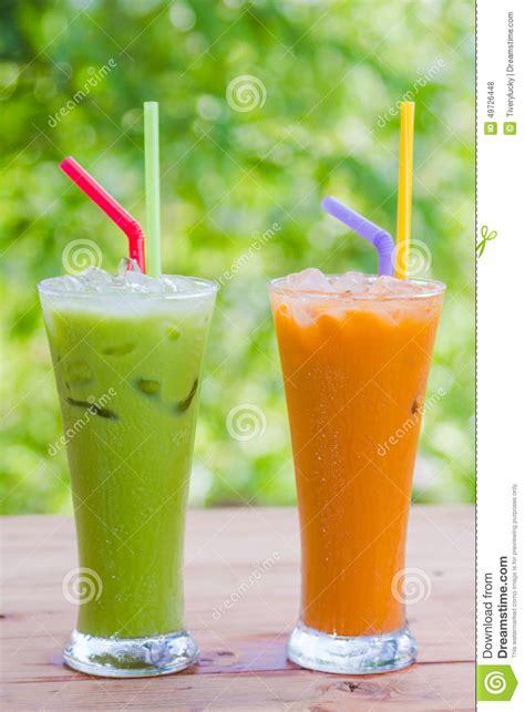 Greentea Thai Greentea 350ml thai tea milk stock photo image of traditional fresh 49726448