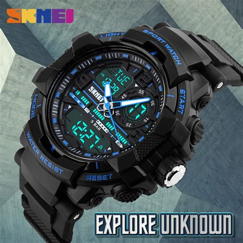 Skmei Jam Tangan Analog Digital Black Blue Ad1204 skmei jam tangan analog digital pria ad1164 black blue jakartanotebook