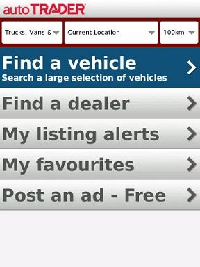 autotrader new cars used cars find cars for sale and review autotrader for blackberry crackberry com
