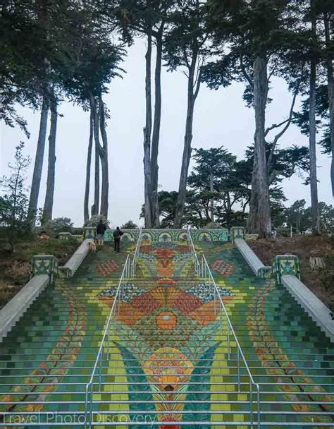 lincoln park sf cool stairs in san francisco