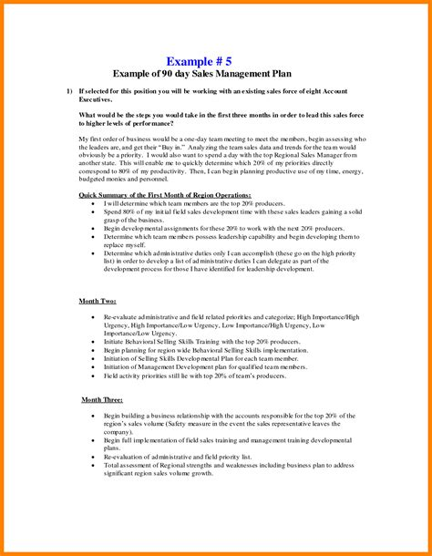 10 30 60 90 sales plan care giver resume