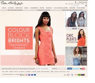 Miss Selfridge Site Relauch by S Visual Diary Miss Selfridge Website