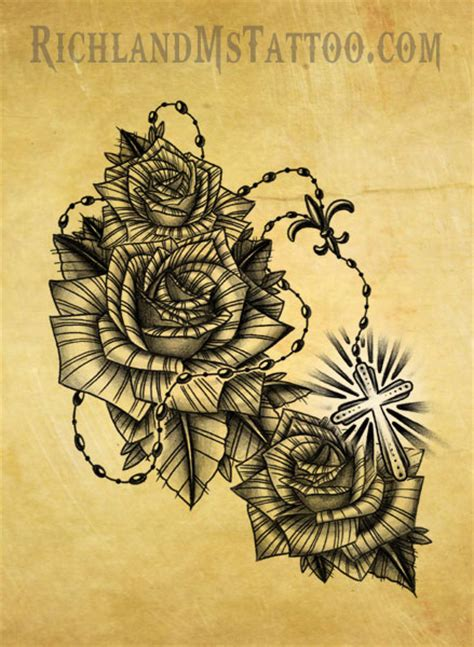 christian tattoo shops in georgia rosary tattoo mississippi by jacksonmstattoo on deviantart