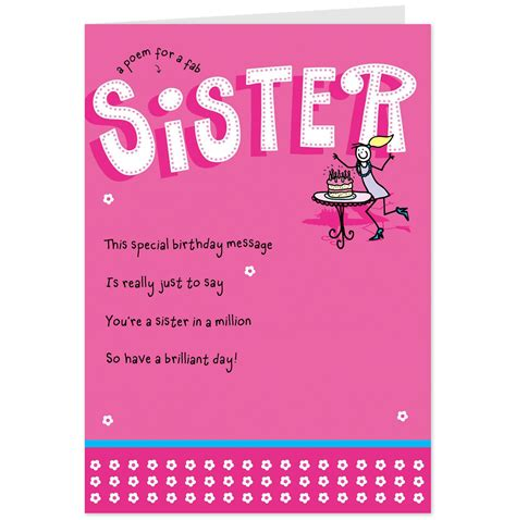 Printable Birthday Cards For Little Sister | birthday cards for sister free printables pinterest