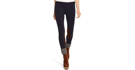 Legging Polos T3009 1 polo ralph suede patch jodhpur in blue lyst