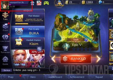 tutorial membuat video unik cara buat nickname unik berwarna di mobile legends
