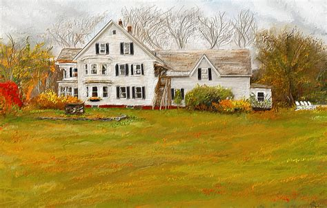 Country House Plans Online country moments farmhouse in woodstock vermont painting by