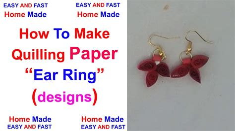How To Make Paper Jhumkas At Home - 100 quilling earring jhumka make at diy quilled