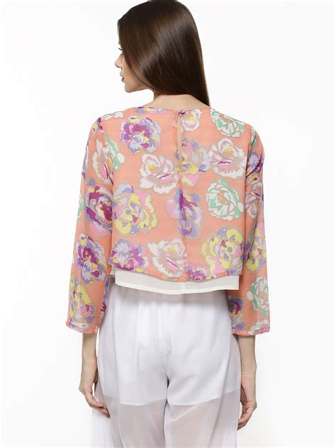 Layer Flower Blouse buy pastel flower layer swing top for