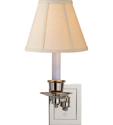 swing arm l shade visual comfort studio single swing arm sconce in polished
