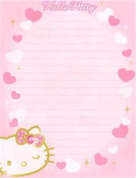 printable hello kitty notebook paper pin by nadine on writing paper checklists notes