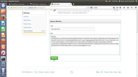 git tutorial ssh key generate ssh key for git jackson s blog